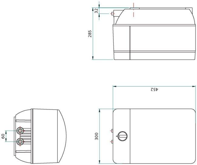 Franke Helix 3-in-1 kraan COMBI 10L RVS afmetingen