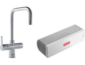 Veiligheid Van Kokendwaterkranen : Franke irena in kraan combi l chroom kokendwaterkranen