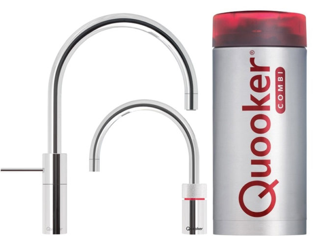 Quooker Twin Taps Round Combi