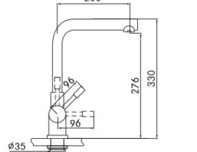 Franke-Mondial-4-in-1-kokendwater-kraan-maattekening
