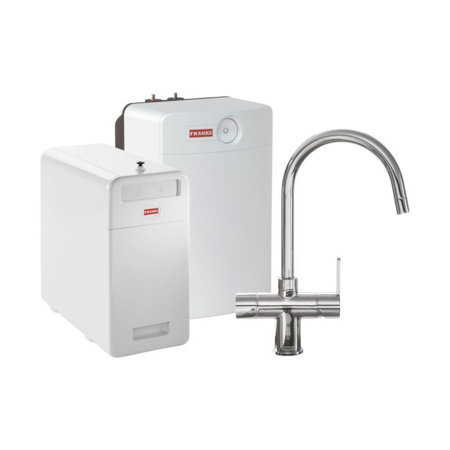 Franke Perfect4 Chilled Minerva Chroom Combi XL