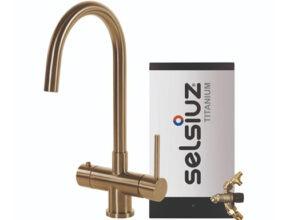 Selsiuz-kokend-water-kraan-Titanium-Combi-extra-boiler-Rond-Gold