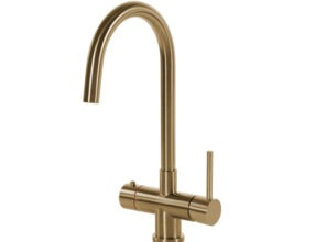 Selsiuz-kokend-water-kraan-Titanium-Combi-extra-boiler-Rond-Gold-kraan