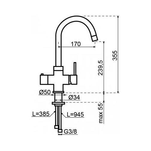 Selsiuz 350213 Rond Gun Metal Single Boiler