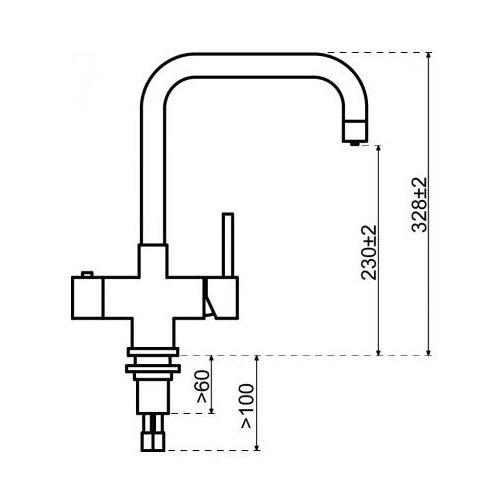 Selsiuz 350217 Vierkant Gun Metal Single Boiler