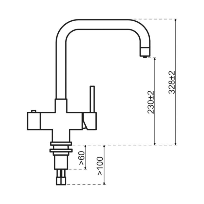 Selsiuz 350218 Vierkant Copper Single Boiler