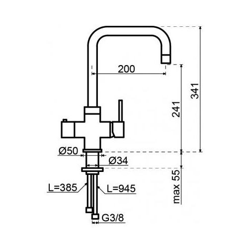 Selsiuz 350242 Vierkant Chroom Combi Extra Boiler