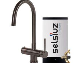 Selsiuz 350286 Rond Gun Metal Combi Extra Boiler