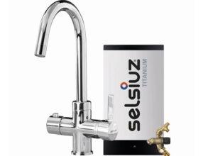 Selsiuz-kokend-water-kraan-Titanium-Combi-extra-boiler-Rond-Chroom