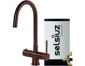 Selsiuz-kokend-water-kraan-Titanium-Combi-extra-boiler-Rond-Copper