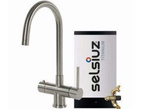 Selsiuz-kokend-water-kraan-Titanium-Combi-extra-boiler-Rond-RVS