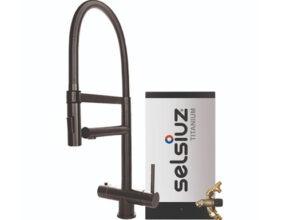 Selsiuz-kokend-water-kraan-Titanium-Combi-extra-boiler-XL-Gun-Metal