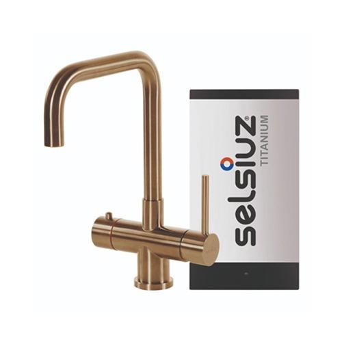 Selsiuz-kokend-water-kraan-Titanium-Single-Boiler-Haaks-Gold