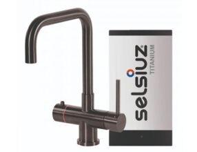 Selsiuz-kokend-water-kraan-Titanium-Single-Boiler-Haaks-Gun-Metal