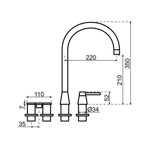 Selsiuz-kokend-water-kraan-Titanium-Combi-Extra-Boiler-Cooler-Osiris-Cone-Counter-RVS-Afmetingen