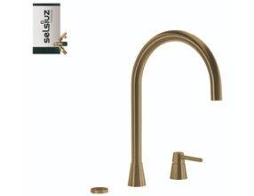 Selsiuz-kokend-water-kraan-Titanium-Combi-Extra-Boiler-Osiris-Cone-Counter-Gold