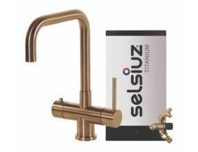 Selsiuz-kokend-water-kraan-Titanium-Combi-extra-boiler-Haaks-Gold