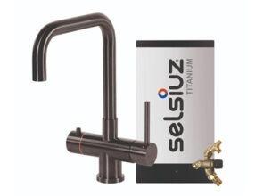 Selsiuz-kokend-water-kraan-Titanium-Combi-extra-boiler-Haaks-Gun-Metal