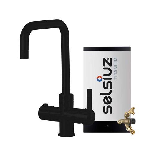 Selsiuz-kokend-water-kraan-Titanium-Combi-extra-boiler-Haaks-Zwart
