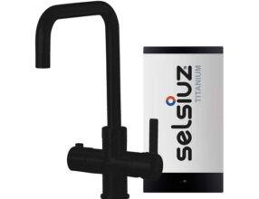 Selsiuz-kokend-water-kraan-Titanium-Single-Boiler-Haaks-Zwart