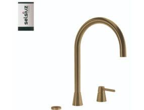 Selsiuz-kokend-water-kraan-Titanium-Single-Boiler-Osiris-Cone-Counter-Gold