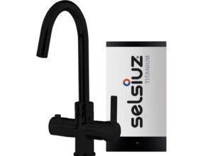 Selsiuz-kokend-water-kraan-Titanium-Single-Boiler-Rond-Zwart